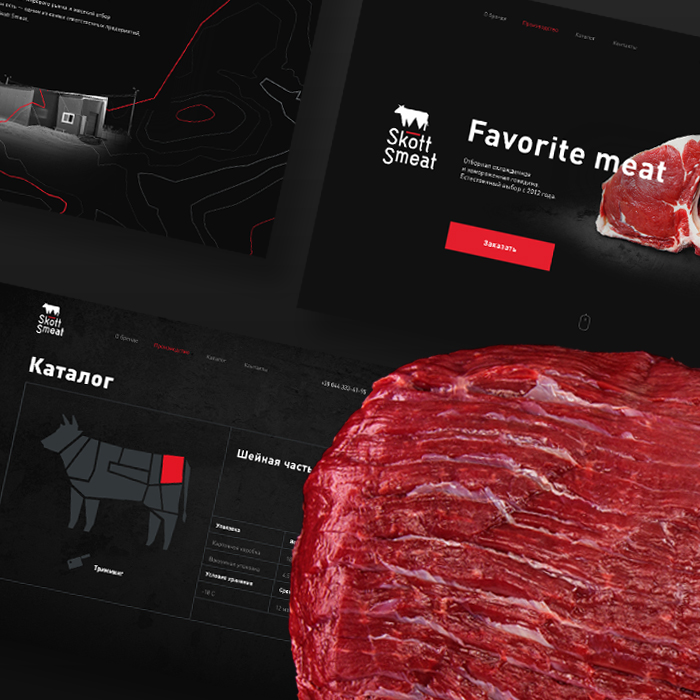 Naming, identity, website and catalogue for B2B export meat brand